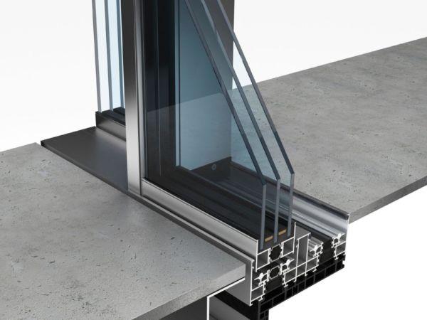 Entwässerungsprofil Rahmenlose Schiebefenster