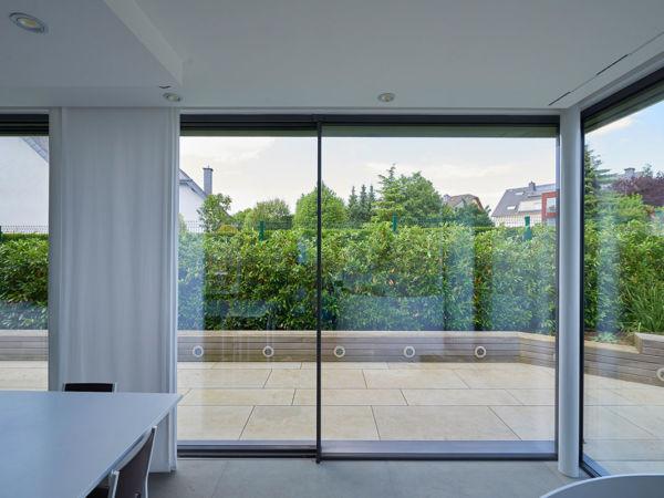 Anschlusspunkte rahmenlose Schiebefenster