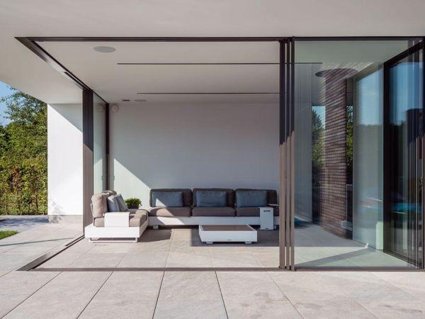 Rahmenlose Schiebefenster