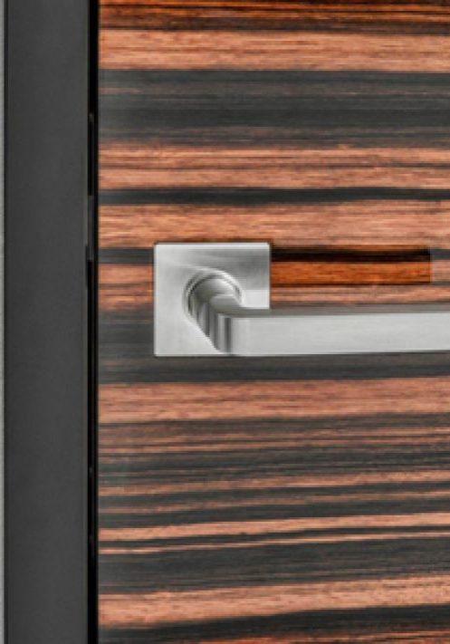Rosette integrierte Türen